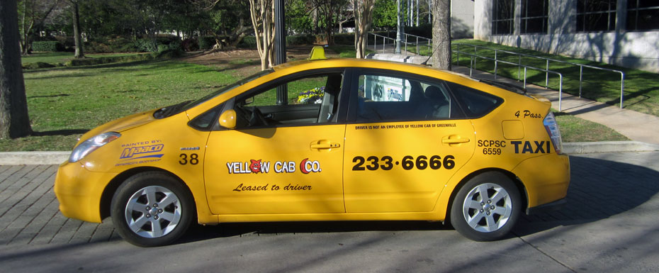 yellow-cab-greenville-prius
